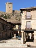 Penaranda de Duero, Burgos (Spanien) Royaltyfria Bilder