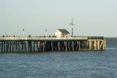 Penarth码头,威尔士,英国 免版税库存图片