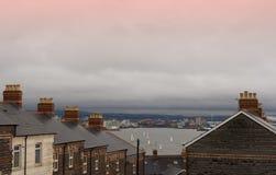 Penarth et Cardiff - vieux et neufs Image libre de droits