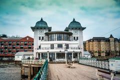 Penarth pier. Shot at Penarth  BEACH, Cardiff, Wales Royalty Free Stock Photo
