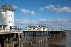 PENARTH, TAL VON GLAMORGAN/WALES - 23. MÄRZ: Ansicht des Piers O Stockbild