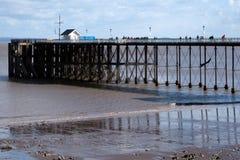 PENARTH, TAL VON GLAMORGAN/WALES - 23. MÄRZ: Ansicht des Piers O Lizenzfreies Stockbild