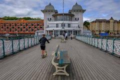 Penarth, Wales - May 21, 2017: Penarth Pier Pavillion Royalty Free Stock Image