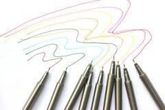 Penas coloridas. Imagem de Stock Royalty Free