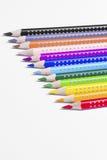 12 penas coloridas da pintura Fotografia de Stock Royalty Free