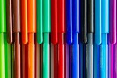 Penas coloridas da tinta Foto de Stock Royalty Free