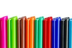 Penas coloridas da tinta Imagem de Stock Royalty Free