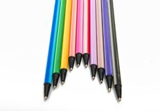 Penas coloridas isoladas Imagem de Stock Royalty Free