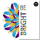 Penas coloridas Seja brilhante Fundo do vetor Fotografia de Stock Royalty Free