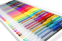 Penas da cor Fotos de Stock