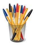 Penas da tinta em um copo (JPG+EPS) Imagens de Stock Royalty Free