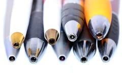 Penas de esferográfica Foto de Stock