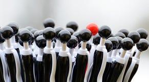 Penas de esferográfica pretas do glóbulo Imagens de Stock