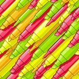 Penas de marcação vibrantes Imagem de Stock