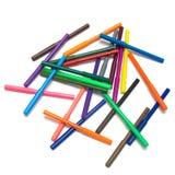 Penas de ponta de feltro coloridas Fotos de Stock Royalty Free