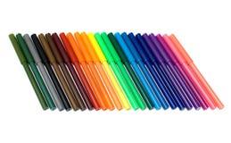 Penas de ponta de feltro coloridas Fotografia de Stock Royalty Free
