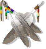 Penas decorativas ilustração do vetor