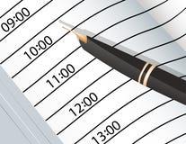 Penas do caderno e da tinta Imagens de Stock Royalty Free