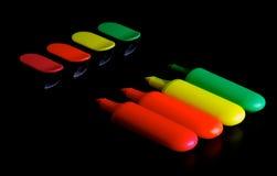 Penas do highlighter Fotografia de Stock