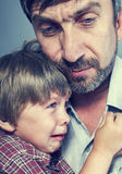 Penas do pai seu filho Imagem de Stock