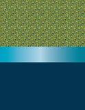 Penas do pavão do projeto e fita azul Fotografia de Stock