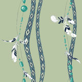 Penas e grânulos de Dreamcatcher Imagem de Stock Royalty Free