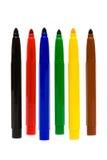 Penas felt-tip da cor imagem de stock