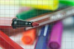Penas mágicas da cor Foto de Stock