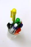 Penas, pino, pinos, escola, secretária Foto de Stock Royalty Free