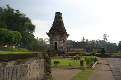 Penataran, Hindu temple, East Java, Indonesia. East Java, Indonesia - February 10, 2010: View of Penataran - the largest and most important Hindu temple complex Royalty Free Stock Photography