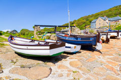 Penberth Cornwall英国 免版税库存照片