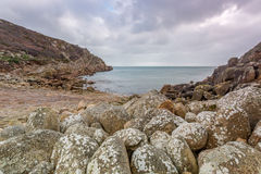 Penberth cove cornwall uk Royalty Free Stock Image