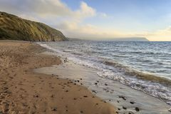 Penbryn strand, Ceredigion Arkivfoton