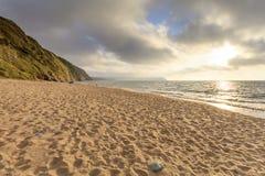 Penbryn strand, Ceredigion Arkivbilder
