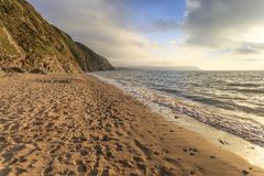 Penbryn strand, Ceredigion Royaltyfria Foton