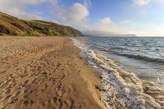 Penbryn strand, Ceredigion Arkivfoto