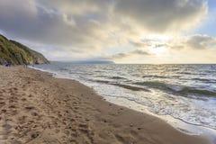 Penbryn strand, Ceredigion Royaltyfri Bild