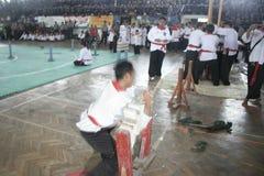 Pencak Silat akcja Fotografia Royalty Free
