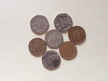 Pence muntstukken, het Verenigd Koninkrijk Stock Foto