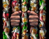 penchant d'alcool illustration de vecteur