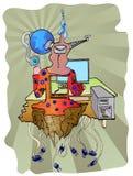 Penchant de Cyber illustration stock