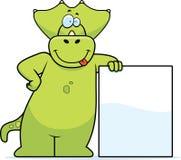 Penchement de dinosaur Images libres de droits