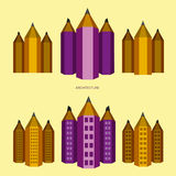 Pencil – city version Royalty Free Stock Image