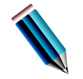 Pencil. Blue pencil over  white background Stock Images