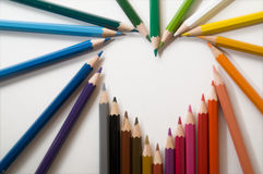 Pencil. S on white, different color Stock Photography