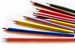 Pencil. On the white background Royalty Free Stock Photos