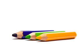 Pencil. Colored pencils isolated on white Stock Images