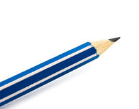 Pencil. Striped pencil isolated on white background Stock Photo