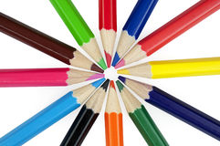 Pencil. Colorful pencils on white background Royalty Free Stock Photo