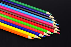 Pencil. Colored pencil on black background Stock Photography
